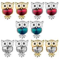 1 Pair Jewelry Ear Stud Rockabilly Earrings Owl Owl with Cristal STRASS