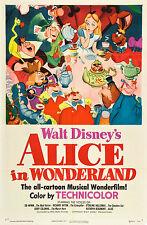 Stampa parete di casa-VINTAGE MOVIE FILM POSTER-Alice nel paese delle meraviglie-a4, a3, a2, a1