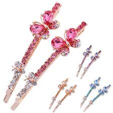 Fashion Korea Crystal Rhinestone Butterfly Hair Clip Barrette Hairpin Edge Clamp