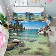 3D Äste Fluss 877 Bett Kissenbezüge steppen Duvet Decken Set Single DE Kyra