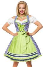 Robe oktoberfest fete biere dirndl allemand serveuse deguisement a carreaux BLEU