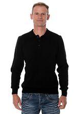 c4c8820f6186b Ugholin Men s 100% Yak Wool Knitted Polo Shirt, Black