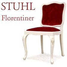 Stuhl Sessel HOLZ f. Schminktisch rot Samt SHABBY Chic
