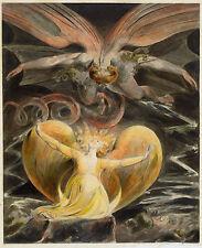 William Blake El Gran Dragón Rojo Y La Mujer Vestida De Sol Vintage impresión