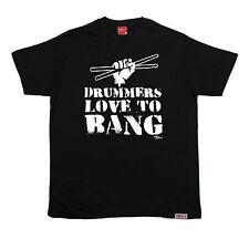Drummers Love To Bang T-SHIRT Drum Kit Sticks Music Fashion birthday funny gift