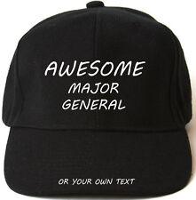 AWESOME MAJOR GENERAL PERSONALISED BASEBALL CAP HAT XMAS GIFT