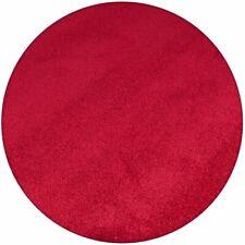 Velours Teppich Trend RUND verschiedene Farben Uni Kurz Flor Modernes Design