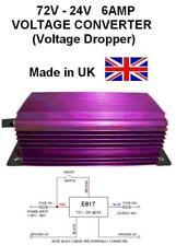 72V a 24V Tensione voltaggio Convertitore /RIDUTTORE 6AMP 144W DC-DC, 72V-24V