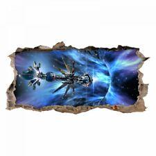 nikima - 068 Wandtattoo Raumschiff Galaxie - Loch in der Wand - Kinderzimmer Tee