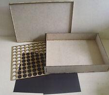 Caja de almacenamiento de información magnética 55mm para Warhammer 40k ESCENOGRAFIA DE JUEGOS taller llevar Multi