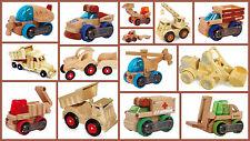 Para Niños transformobiles vehículo tractor Montacargas Camión De Volteo De Madera Niños Regalo