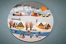 Vintage NOS German E&A BOCKLING collector plate #1 WINTERMARCHEN