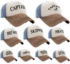 Boating Hat Men Women Baseball Cap Captain,Skipper,Wreck,Pirate,Drunk Sailor LA