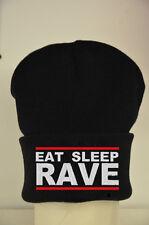 EAT Sleep Rave Repeat Beanie un sacco di colori-COTONE CAPPELLO CUSTOM Regalo
