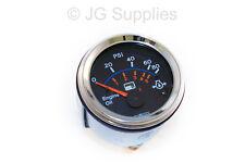 Oil Pressure chrome bezel gauge 52mm smart 0-80 Psi / 0-5 Bar