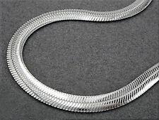 925 ECHT SILBER *** Massives Armband, Schlange flach 4 mm, 19-21 cm