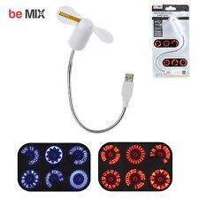 Ventilateur USB ordinateur à message LED bureau Pc Mac 100% Plug & Play flexible