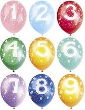 Pagar Globos Cumpleaños Niños Número Metálico Globo Cumpleaños Decoración