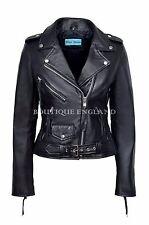Valentines Ladies Leather Jacket Biker Style Fitted Urban Look Napa Jacket (MBF)