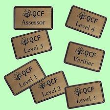 QCF Qualification Award Levels - STAFF LAPEL NAME BADGES