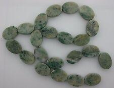 18x13 Flat Oval Gemstone Old Jade Beads 15 Inch Strand Gem Stone Natural