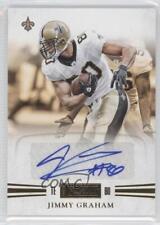2011 Panini Playbook Gold #16 Jimmy Graham New Orleans Saints Auto Football Card