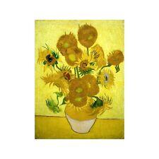 Quadro su Pannello in Legno MDF Vincent Van Gogh Zonnebloemen
