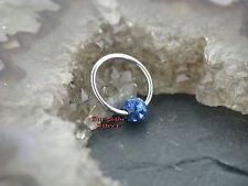 BALL CLOSURE ring lèvre piercing boucle d'oreille poitrine Nez Intime tragus cristaux bleu