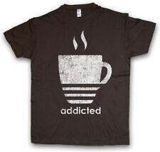COFFEE ADDICTED T-SHIRT Love Café Kaffee