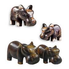 Happy Hippo Nilpferd Flusspferd Albesia-Holz, Deko, Größe/Variante wählbar (11,9