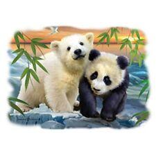 Panda and Polar Bear Cubs     Tshirt   Sizes/Colors