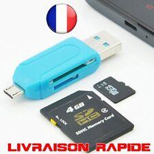2 en 1 USB OTG Lecteur Carte Universel Micro TF/SD Adaptateur Téléphone Mobile