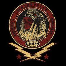Warrior Indian Skull Biker Lightning Bolt Hoodie Black