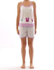 Pyjama Haut Shirt Haut avec bretelles manches courtes court short motif 2267