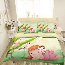 3D Cartoon Girl 572 Bed Pillowcases Quilt Duvet Cover Set Single Queen Us