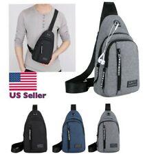 Mens Sling Cross Body Handbag Chest Bag Shoulder Pack Sports Travel Backpack-New