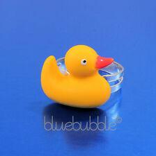 Funky Rubber Ducky Anillo Lindo Kitsch Novedad Kawaii Retro Pato Animales Divertidos Pájaro del Reino Unido