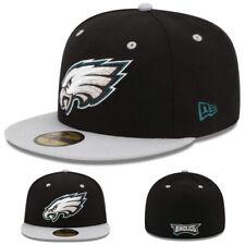 New Era NFL Philadelphia Eagles 5950 Fitted Hat Black Grey 2Tone Color Game Cap