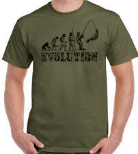 PESCA EVOLUTION Hombre Divertido Pescador Camiseta aparejos de Caña Carrete MAR