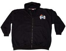 """Full zipped hoodie """"Wings & Roses"""", black, 3xl, 4xl, 5xl, 6xl, 7xl"""