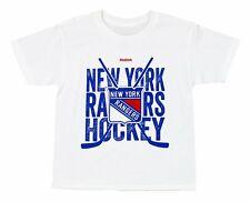 "Reebok NHL Youth New York Rangers ""Cross Sticks"" Short Sleeve Graphic Tee"