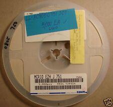 Rohm 0805 Resistor 750 Reel, 5%, MCR10EZHJ751, 5000pcs