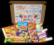 Retro Vegetarian Sweet Gift Box Personalised Birthday 21st 30th 40th 50 Thank U