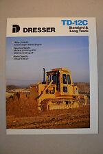 Dresser Brochure  -  TD-12C Standard & Long Track - dozer crawler