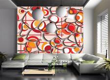 3D Pattern orange 817 WallPaper Murals Wall Print Decal Wall Deco AJ WALLPAPER