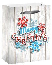 Buon Natale Regalo di Borsa Paillettes Nastro Maniglie 32x26x11cm L Sacchetti