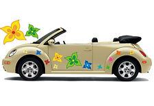 Hippie Blumen Auto Aufkleber Blumenaufkleber Flower Power: Hippie Flower Set 037