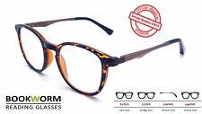 Large Strong Round Tortoise Reading Glasses Designer Retro Mens Womens Ladies
