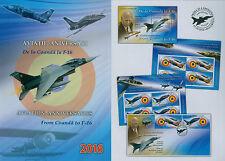 Rumänien 2016 Luftfahrt,Flugzeug,Airplane,Coanda, Mi.7128-29,ZW,KB,Block 681,FDC