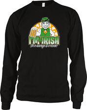 I'm Irish It's Always 5 O'Clock Five Somewhere Bar Happy Hour Beer Men's Thermal